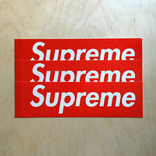 Supreme box logo red sticker vinyl decal skateboard original NYC bumper