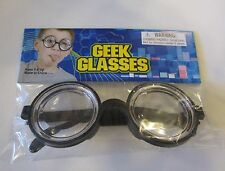 NEW KIDS BLACK NERD GLASSES THICK LENS GEEK SHADES COSTUME  COKE BOTTLE FRAMES