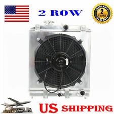 2 ROW/CORE Aluminum Radiator &Fan Shroud FOR Honda Civic EK EG/DEL SOL 1992-2000