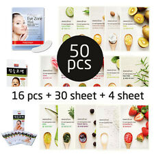 50pcs, Innisfree Mask 16pcs , Purederm eye patch 1pack, Luke Nose 4pcs