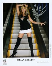 LILIAN GARCIA WWE SIGNED AUTOGRAPH 8X10 PROMO PHOTO W/ PROOF