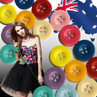 30 50 100pcs 20mm Candy Button Clothing Sewing 4 Holes Craft Buttons CKBUT52