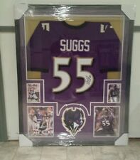TERRELL SUGGS BALTIMORE RAVENS AUTOGRAPHED/SIGNED JERSEY CUSTOM FRAMED  COA JSA