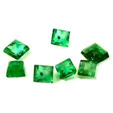 NATURAL GREEN EMERALD GEMSTONE (3pieces) PRINCESS CUT (1.7 x 1.7-2.1 x 2.1  mm)