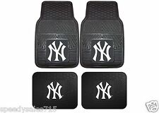 MLB New York Yankees Front & Rear Vinyl Heavy Duty Car Mats New Free Shipping