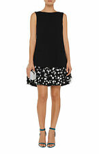 Oscar de la Renta, wool and polka-dot tulle dress, size 4, NWT