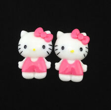 6pcs Cute Resin HELLO KITTY Rose Bow flatback Scrapbooking For phone /craft DIY