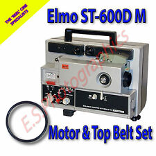ELMO ST-600D M Super 8mm Cine Projector Drive Belts Set of 2