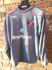SUNDERLAND FOOTBALL CLUB BOYLE SPORTS UMBRO GREY & RED TRAINING SWEAT XL VGC