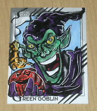2015 Marvel Retro base character sketch card artist unknown #15 GREEN GOBLIN