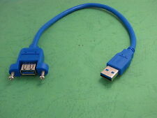 1x 30cm  USB 3.0 A Male to Female Jack Socket Panel Mount Extension Cable