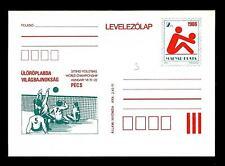 HUNGARY - UNGHERIA - Cart. Post. - 1986 - Campionato mondiale di pallavolo a Pec