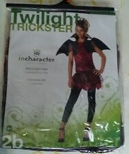 TWILIGHT TRICKSTER TEEN CHILD COSTUME Dress Wings Scary Theme Party Halloween