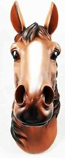 "Triple Crown Stallion Horse Head Bust Hanging Wall Mount Home Decor Statue 15""H"