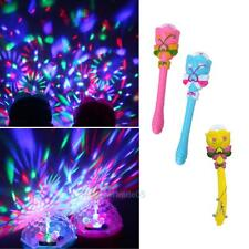 Children Light-Up Magic Wand Stick Kids Stage Lighting Projector Music Toys Gift