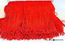 "1 yard 6"" Red Chainette Fringe Latin Dance Costume Trim"