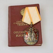 UdSSR Original Orden Zeichen der Ehre Silber + Urkunde !!!