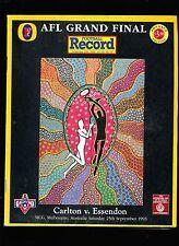 1993 Grand Final record Carlton vs  Essendon Advance Edition Essendon Premiers