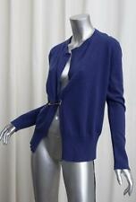 TOM FORD Womens $1290 Blue Violet Cashmere Safety-Pin Cardigan Sweater 42/6 NEW