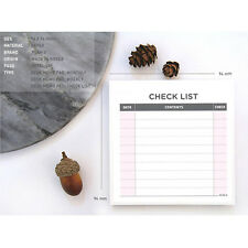 Convenient Stylish Working List Schedule Memo Check Stick Note Bookmark Pad New