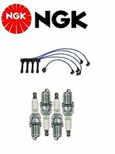 NGK Wire Set + 4 NGK Spark Plugs For Honda Accord 2.2L 1994-1997
