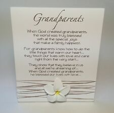 Splosh Grandparents Poem Plaque Sign Gift Ideas For Her For Christmas