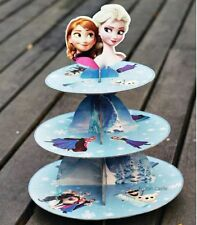 3 Tier Cupcake Stand Cup Cake Cases  DISNEY Frozen Dessert Party Toppers Wrapper
