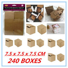 240 PACK MINI SMALL BROWN KRAFT PAPER GIFT BOXES  CANDY LOLLY PARTY FAVOUR A