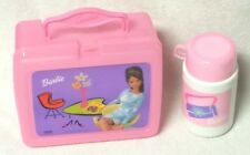 BARBIE Pink Plastic Thermos LUNCHBOX w/ Thermos Bottle 2001 Mattel 05-004-2364
