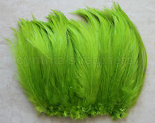 "100+ (7.0g, 1/4Oz) Lime Green 5-7"" hackle rooster COQUE Feathers for crafting"