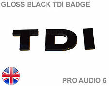 GLOSS BLACK TDI BADGE - TURBO DIESEL CAR VAN  BOOT - UK FAST POST