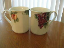 "2 Doulton Everyday ""Vintage Grape"" Mugs 3-3/4"" Made in Japan"
