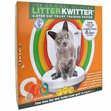 Litter Kwitter Cat Toilet Training System With Instructional DVD NEW!!!