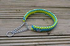 Paracord Dog Lead Leash  (2ft Cobra) With Collar - Half Choke, King Cobra