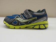 Saucony Boys Baby Crossfire AC Running Shoes Blue/Grey/Green size 6XW (9635)