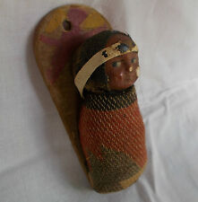 "SKOOKUM Native American Indian Papoose BABY DOLL 4 "" 1918-24"