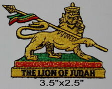 """RASTA THE LION OF JUDAH Embroidered Patches 3.5""""x2.5"""""""
