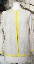 NWOT Lands End Yellow Beige 100% Cashmere Open Cardigan Sweater Sz XL