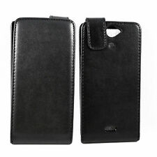Flip Leather Phone Skin Holster Black Case Pouch Cover For Sony Xperia V LT25I