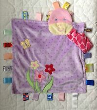 Taggies Giraffe Lovey Purple Flowers Polka Dots Pink Butterfly Ribbon Tags Loops