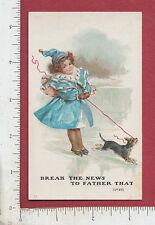 9101 Buchheim Music House trade card Sheboygan, WI ice skating girl & dog