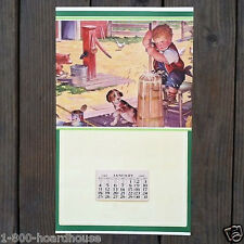 Vintage Original 1948 LIFES UPS AND DOWNS Promotional Full Calendar NOS Unused