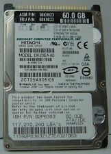 Hitachi DK23EA-60 60GB 2.5IN IDE Drive 13 In stock Tested Good + 30 Day Warranty