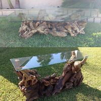 VINTAGE MID CENTURY BURL WOOD COFFEE AND CONSOLE TABLES
