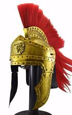 New Greek Corinthian Helmet  Red Plume- Athenian Spartan Costume Armour W4 SALE