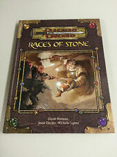 D&D Races of Stone HC ~ Dungeons and Dragons 3.0/3.5