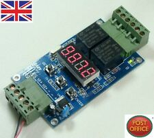 12V DUAL Programmable relay Control CICLO TIMER TIMING Orologio Switch Module