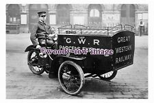 pu0298 - Great Western Railway Parcels Express Motorcycle Carrier  - photograph