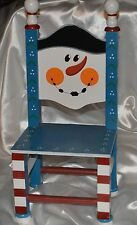 Snowman Small Display Chair Holiday Decoration 18 inches