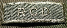 "CANADIAN ARMY COMBAT TAB UNIT BADGE  INSIGNIA  ""RCD""  BUY 1 GET 1 FREE"